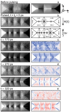 Magnetic domain pattern of the 5x15 µm² FeNi microstructure